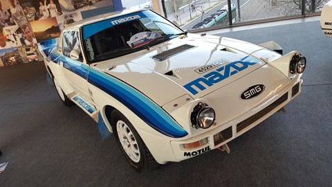 Upstairs at the show was an homage to Group B rallying featuring all the usual suspects (Audi Quattro/Peugeot 205 T16/Ford RS200) plus this slightly bonkers looking Mazda RX-7