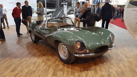 Garnering much (justified) attention was this Jaguar XKSS, road-going version of the D-Type racer