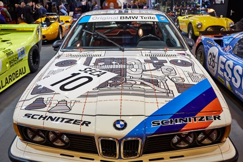 Talking of paintjobs check out the see-through wrap on this BMW 635CSI