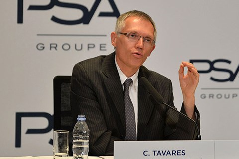 PSA CEO Carlos Tavares