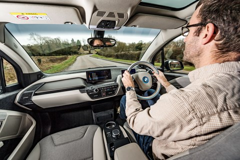Tim Pollard driving our BMW i3 REX