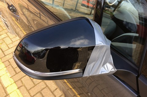 BMW i3 damaged door mirror