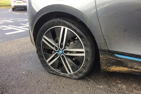 BMW i3 REX long-term tyre puncture
