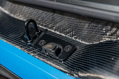 Carbonfibre weave visible on sill of BMW i3