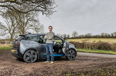 Keeper Tim Pollard and his BMW i3 REX