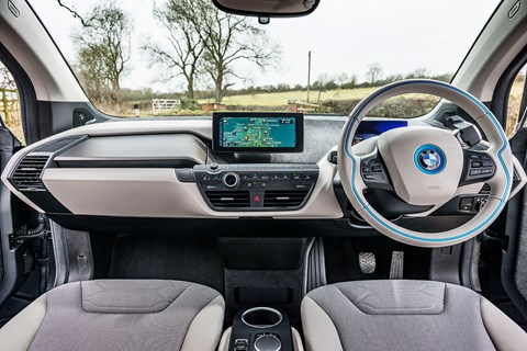 The interior of our BMW i3 Range Extender