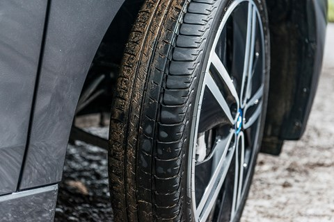 Optional 20-inch allow wheels for our BMW i3