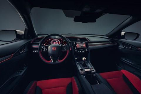 Honda Civic Type R at Geneva 2017 interior
