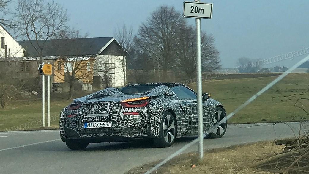 BMW i8 Roadster prototype spyshots
