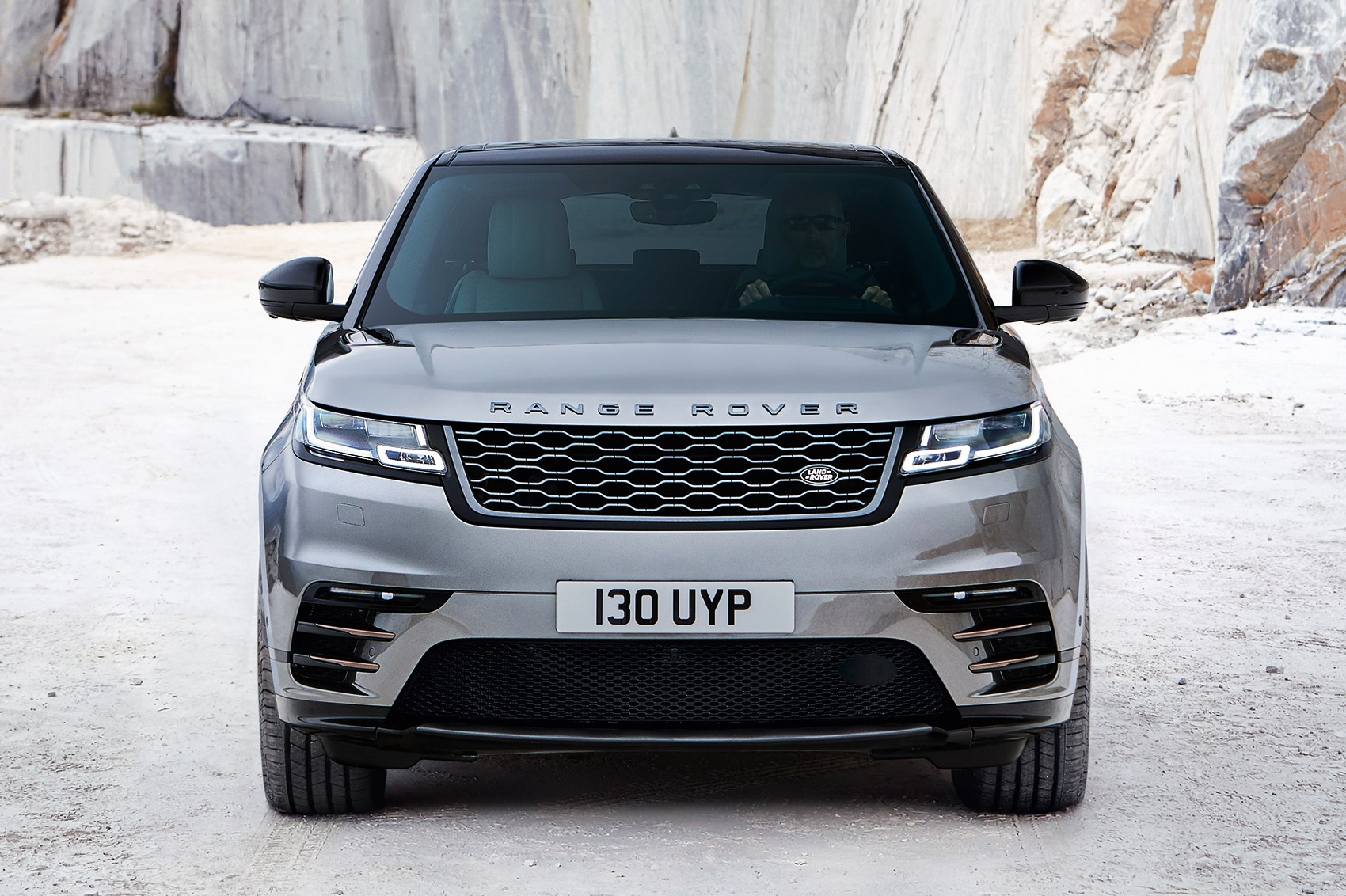 new range rover velar revealed in pictures by car magazine. Black Bedroom Furniture Sets. Home Design Ideas