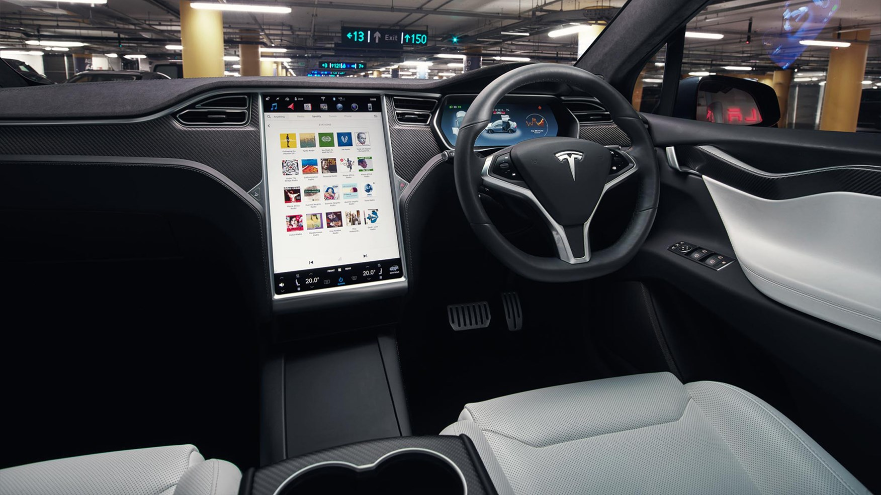 Range Rover Suv Interior >> Tesla Model X (2017) review by CAR Magazine