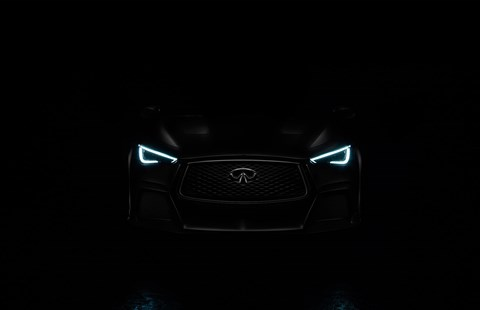 A shadowy front end: the Infiniti Q60 Black