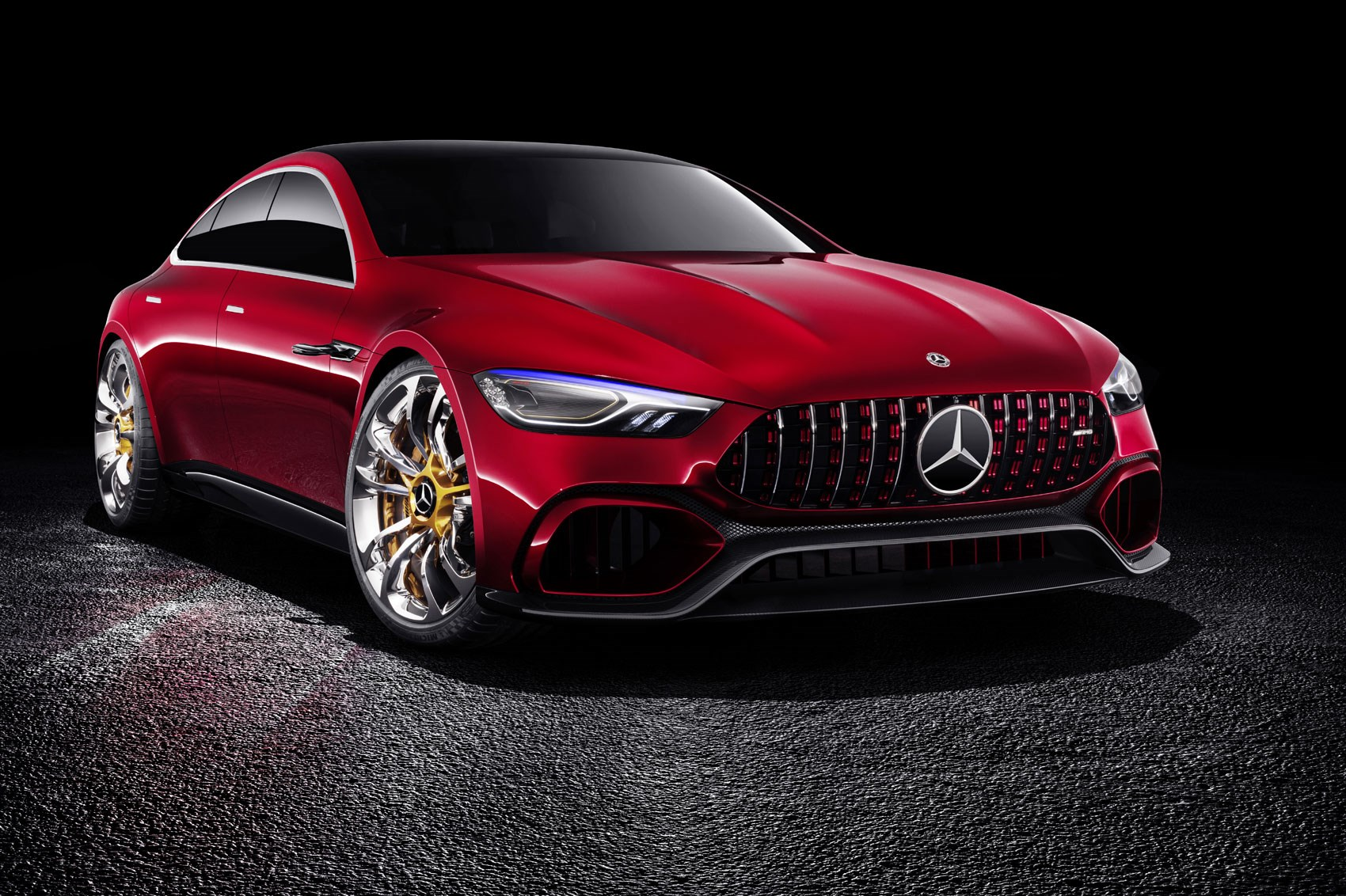 mercedes amg gt concept a cross town rival to the porsche panamera car magazine. Black Bedroom Furniture Sets. Home Design Ideas
