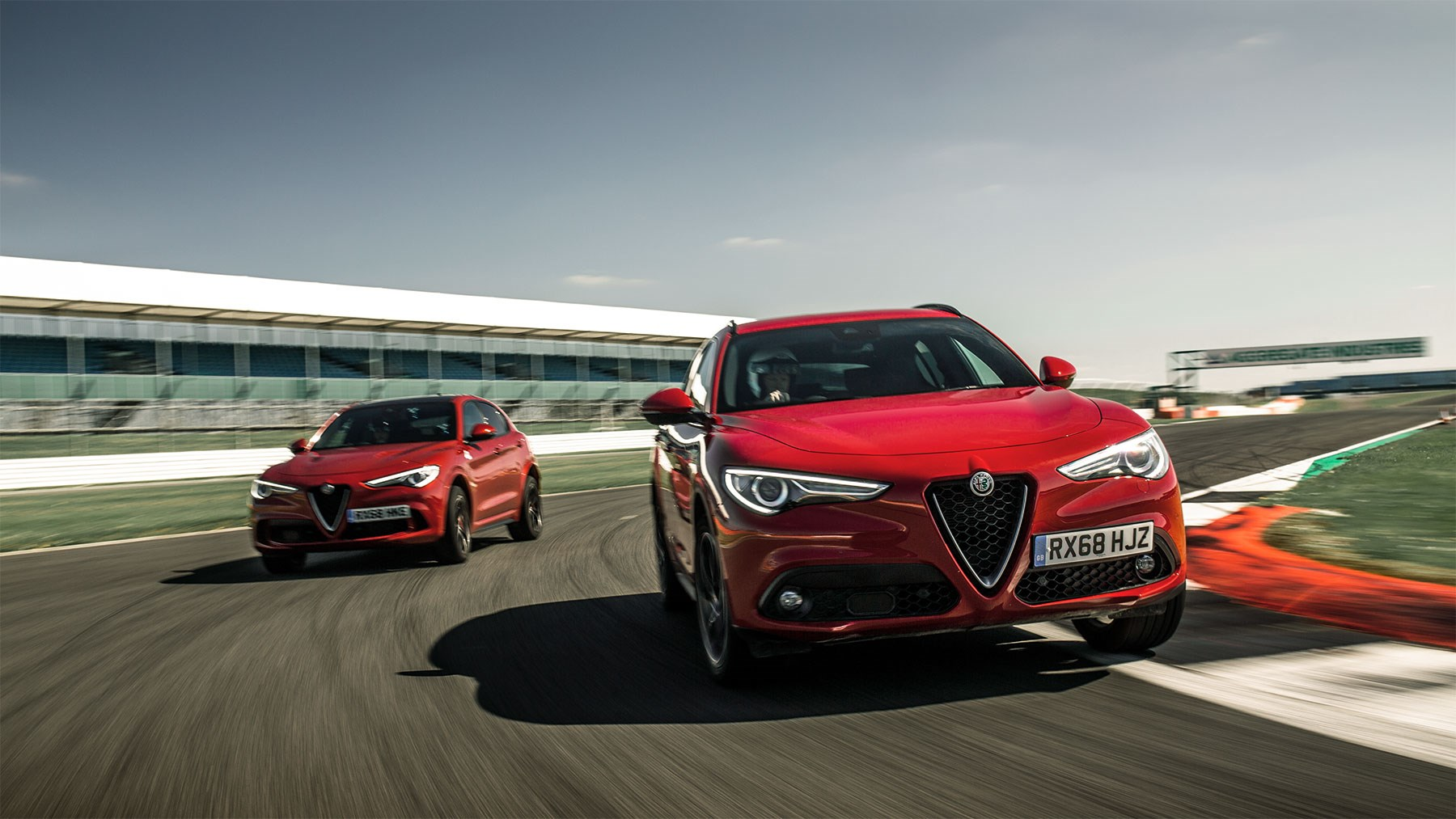 We set an unofficial diesel lap record of the Silverstone circuit in Northamptonshire in our Stelvio