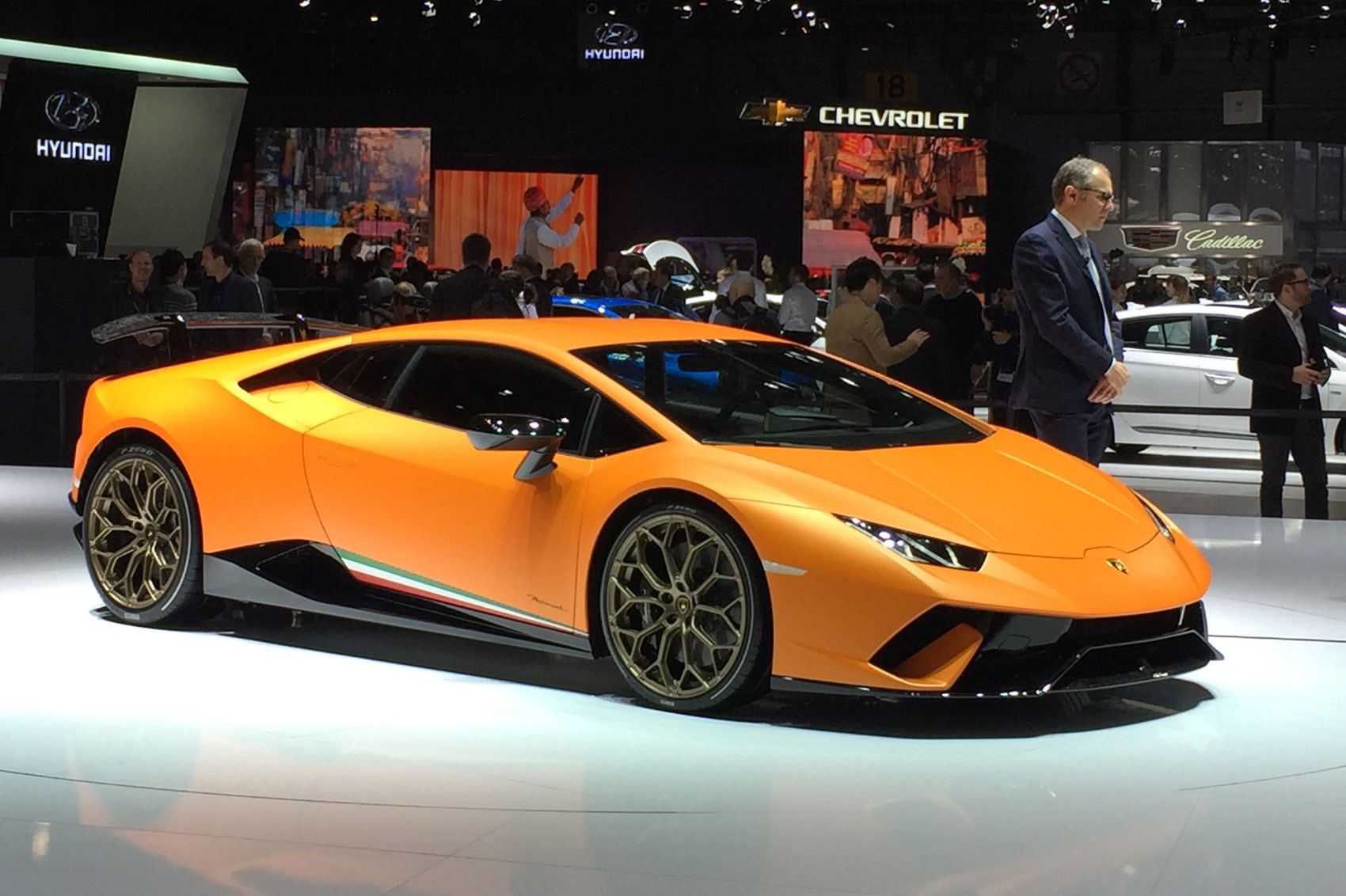 Lamborghini huracan performante races into geneva by car magazine - Geneva car show ...