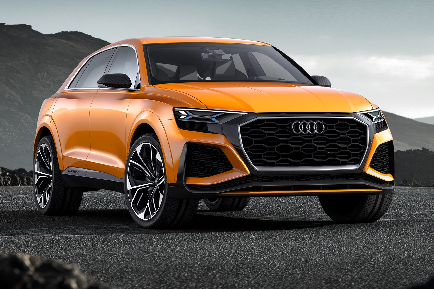 again with more intensity audi q8 concept returns as a hot hybrid by car magazine. Black Bedroom Furniture Sets. Home Design Ideas
