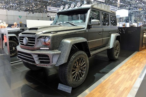 Mansory GRONOS G500 4x4 squared at the 2017 Geneva motor show