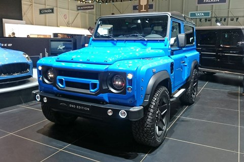 Chelsea Truck Company The End edition Defender at the 2017 Geneva motor show