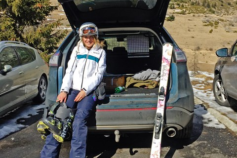 Four people and a week's worth of ski kit, no roofbox required