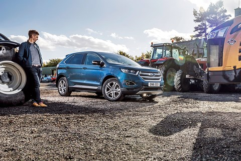 Keeper Ben Miller and CAR's Ford Edge long-term test review car