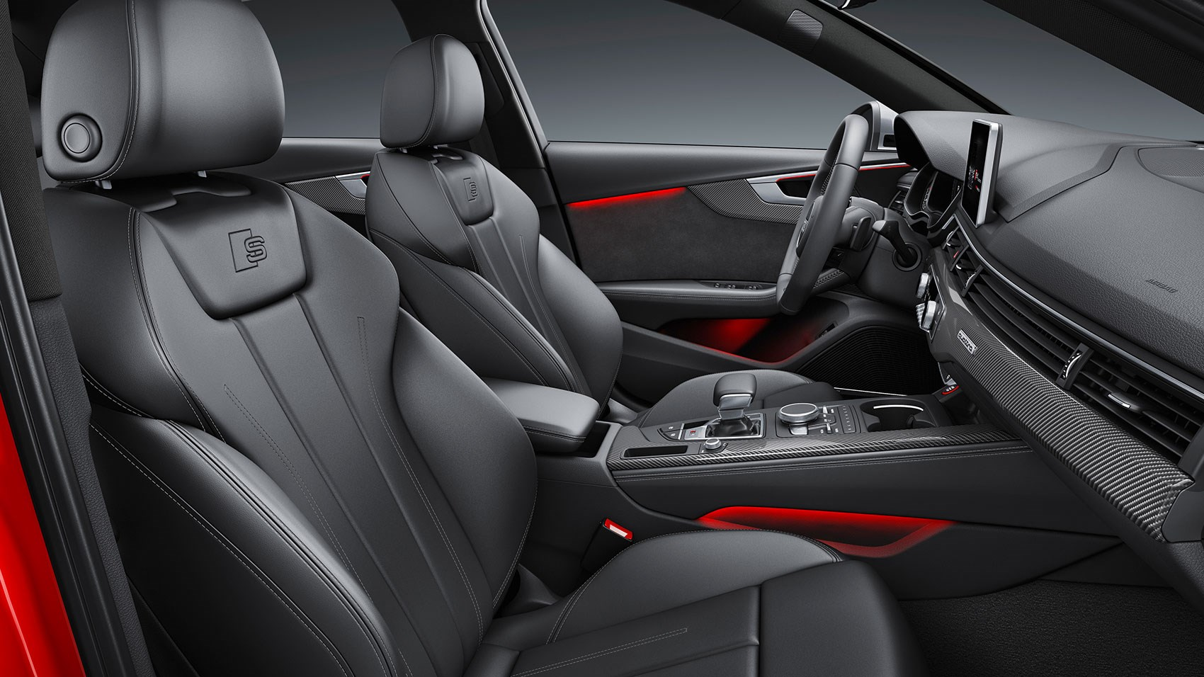 Audi S4 Not Full On Racing Buckets But Supportive Sports Seats In