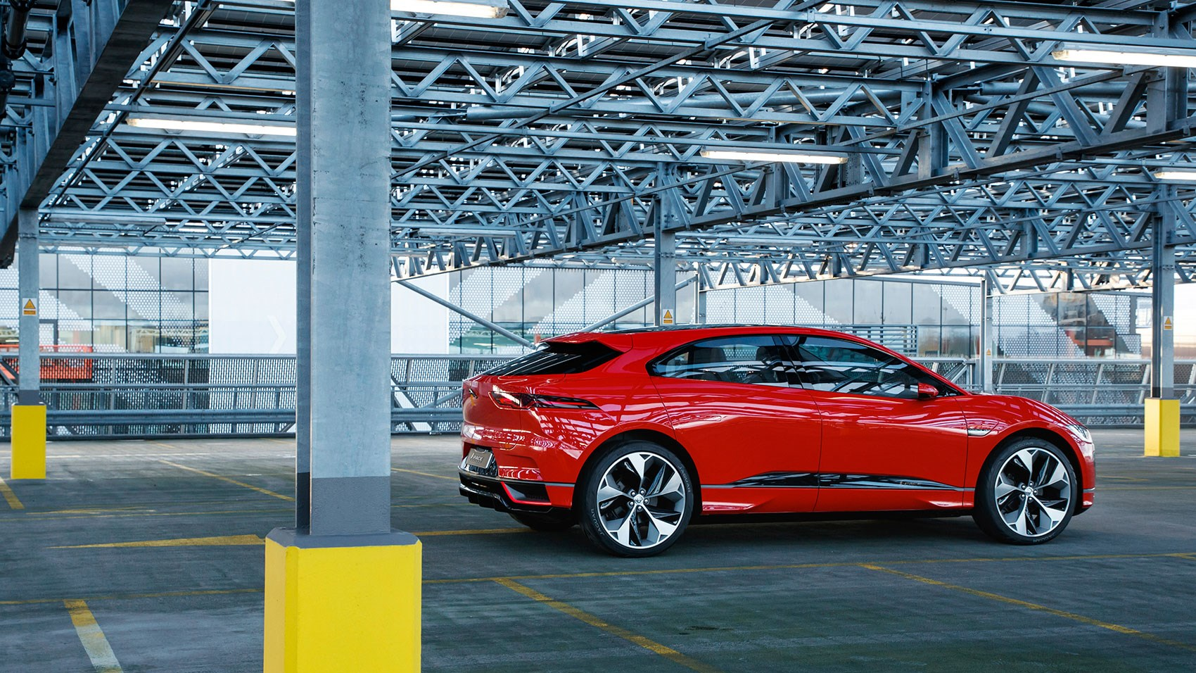 A low-slung kind of crossover: the Jaguar i-Pace electric SUV