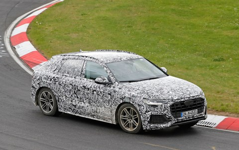 The Audi Q8 caught testing at the Nurburgring