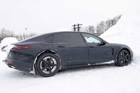 Porsche Panamera-based Bentley Flying Spur mule