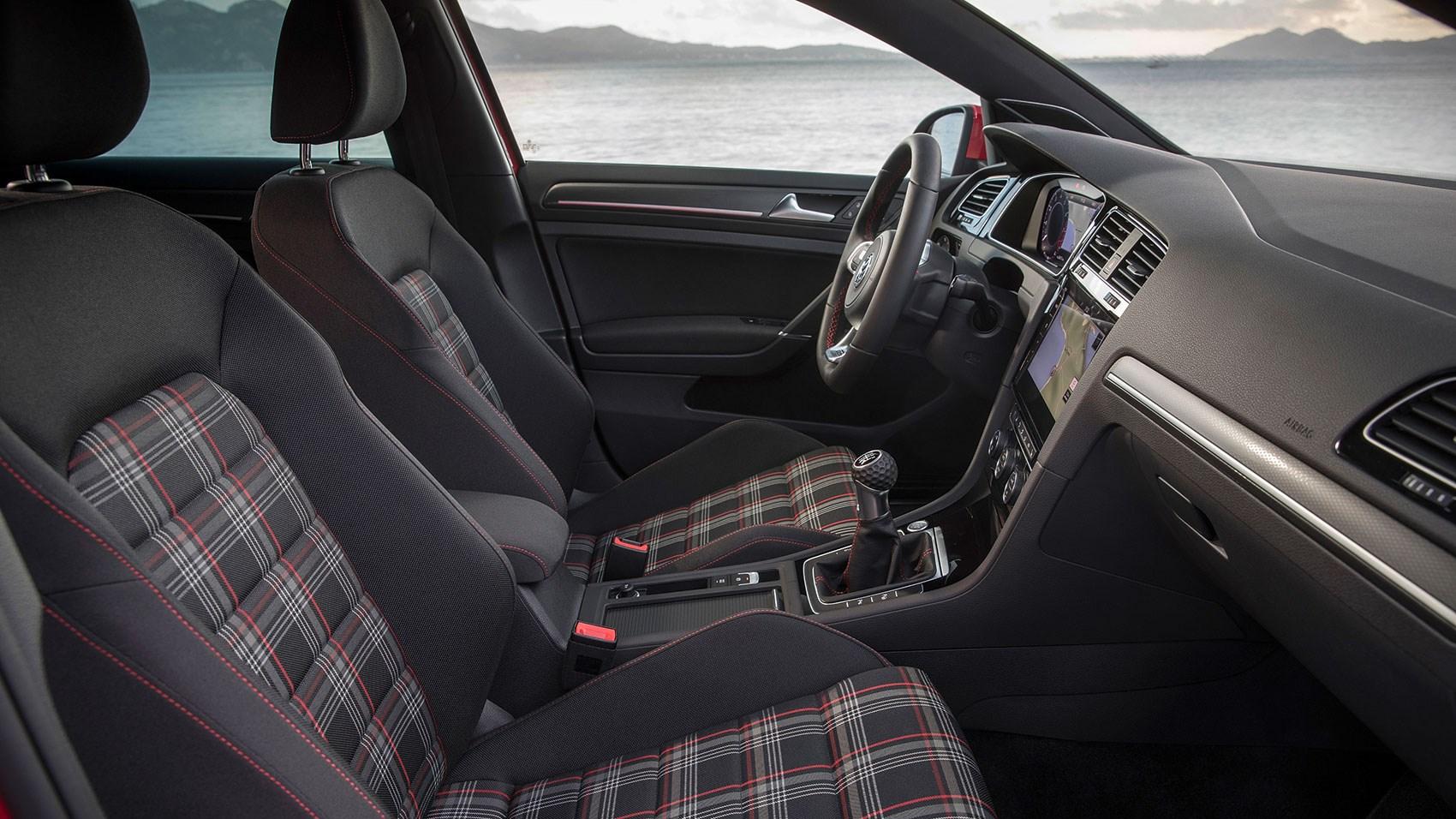 VW Golf GTI 2017 cabin with tartan seats