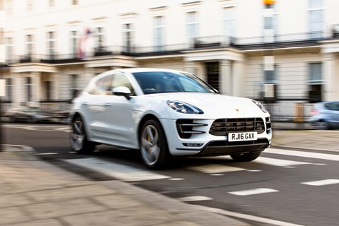 Porsche Macan Turbo long-term city front tracking