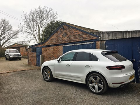 Porsche Macan Turbo down the farm