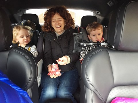 Ben Oliver's family in the Porsche Macan