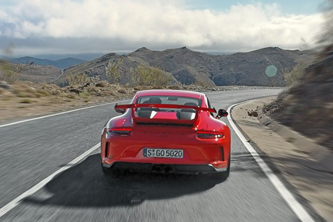 That huge rear wing on new 991.2 Porsche GT3