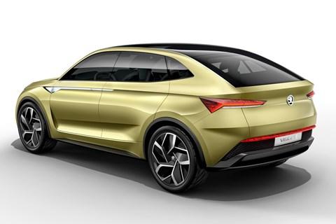 Skoda Vision E concept rear quarter