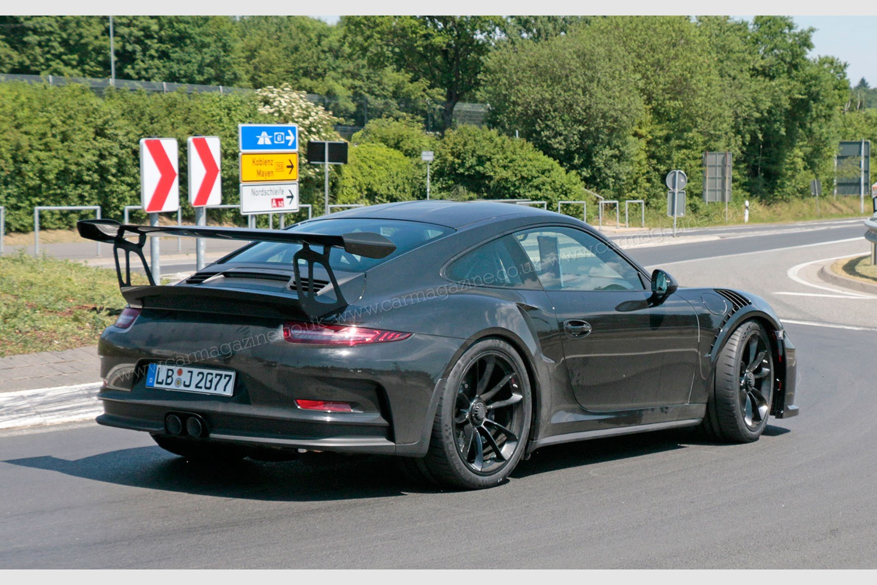 2018 porsche gt3 rs. Exellent Gt3 The New 2018 Porsche 911 GT3 RS Spyshots To Porsche Gt3 Rs