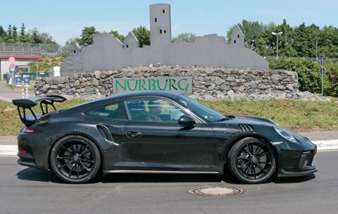 New 2018 Porsche 911 GT3 RS spy photos near the Nurburgring