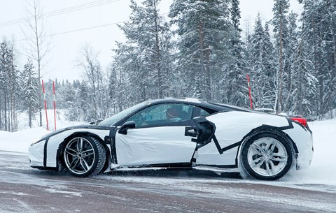 Ferrari F588 M: spy photos in Sweden