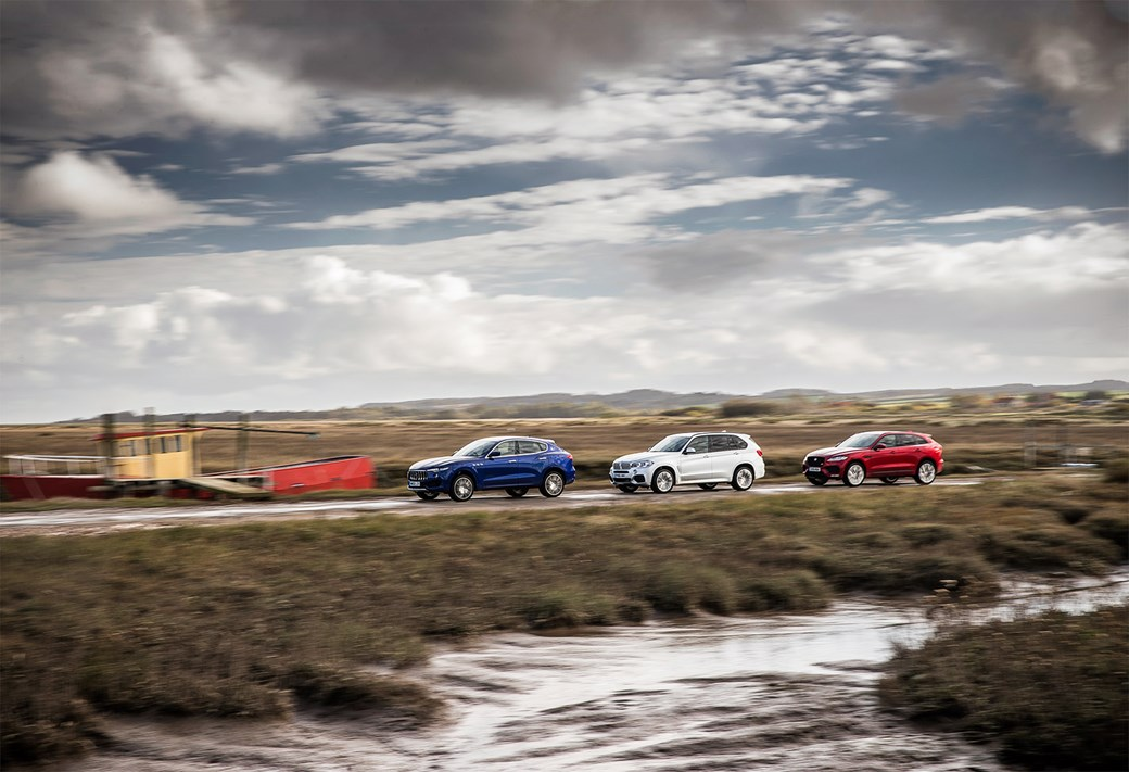 Across north Norfolk, our three luxury SUVs fitted right in