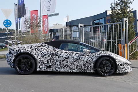 Huracan Performante Spyder spotted!