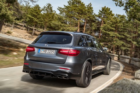 Mercedes-AMG GLC 63 rear cornering