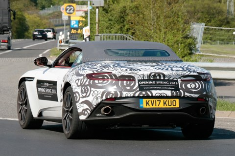 Aston Martin DB11 Volante spyshots