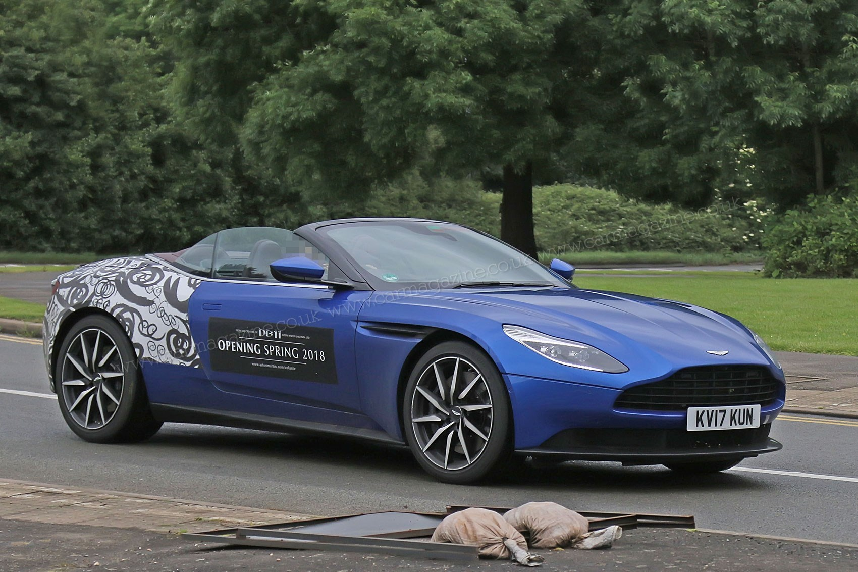 When Prototypes Become Mobile Billboards Aston Martin Db11 Volante