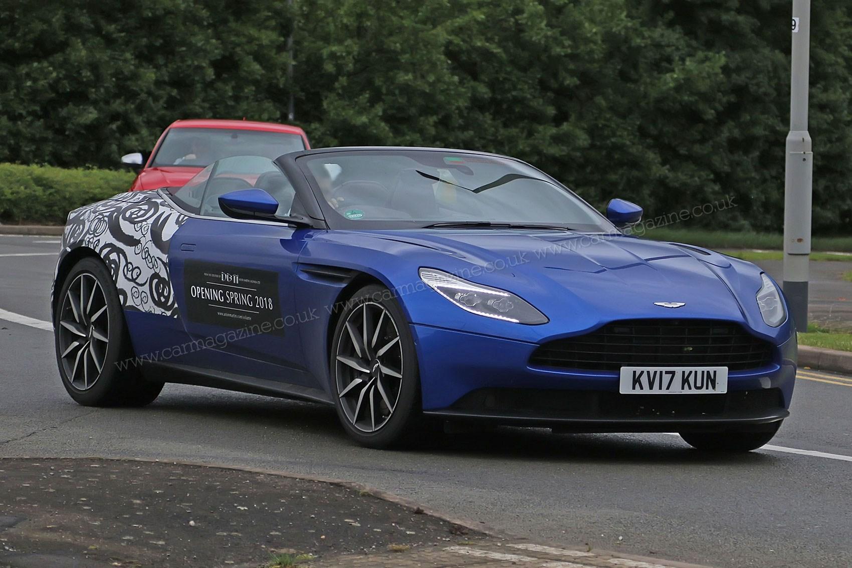 When prototypes become mobile billboards: Aston Martin DB11 Volante for 2018 | CAR Magazine