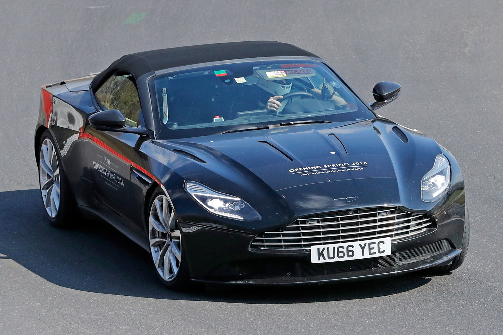 When prototypes become mobile billboards: Aston Martin DB11 Volante