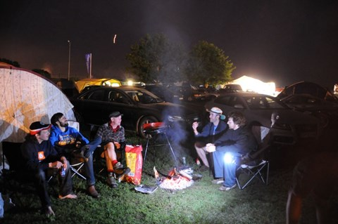 Night time after Le Mans: the camp fire