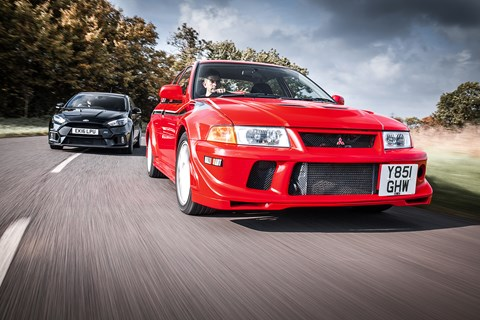 Mitsubishi Evo VI Makinen and Ford Focus RS