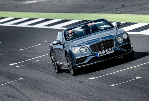 On track: we play at being a Bentley Boy in our Conti Convertible
