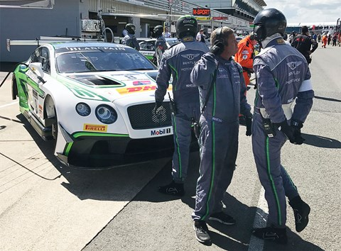 We joined the parade lap at the Blancpain race series at Silverstone with Bentley M-Sport racing