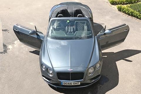 Our Bentley Continental V8 S Convertible: doors open