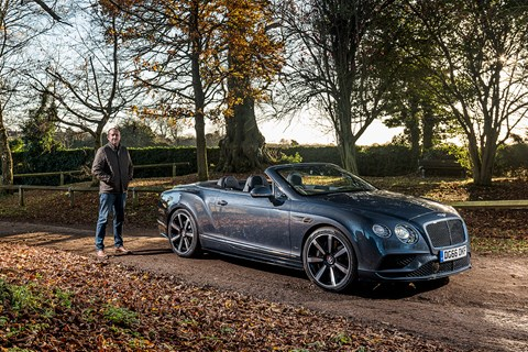 CAR's Bentley V8 cabrio and keeper Steve Moody